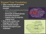 Example of a vocabulary tagxedo