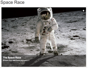Space Race slide